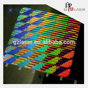 Hochauflösende benutzerdefinierte Hologramm Master Shim für Prägung Verwendung