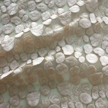 Lt Pink Milky Yarn 3D Embroidery Fabric