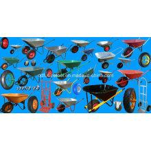 Canada Plastic Tray Two Wheels Wheelbarrow 140L Wh9600