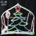 New designs rhinestone Christmas tree crown