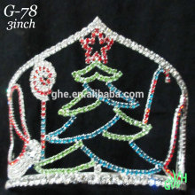 New designs rhinestone Christmas tree crown
