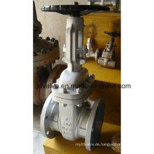 ANSI 150lb Cast Carbon Steel Wcb Flansch Endschieberventil
