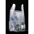 Saco plástico transparente da camisa de compras T de HDPE