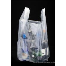HDPE Transparent Plastic Shopping T Shirt Bag