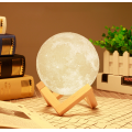 3D Rechargeable LED Moon Lamp Night Light
