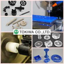 High precision plastic processing original equipment manufacturer (OEM) for PMMA, PET, PTFE, etc. Made in Japan (machine parts)