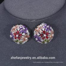 Pendiente de cobre israelí de la joyería al por mayor de zhefan con el diamante