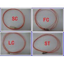 50/125 Pigtail de fibra óptica