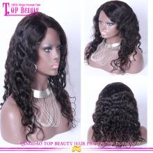 En gros pas cher 100% de cheveux humains en soie top dentelle pleine perruques 2016 nouveau design soie top perruques dentelle transparente en soie top lacets perruques