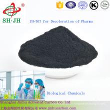 Carbón Activado para Decoloración y Refinamiento de Químicos Biológicos