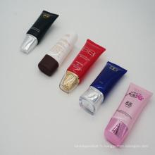Tube en plastique de Tube ovale pour utilisation cosmétique contenant de crème
