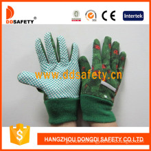 Kids/Children Gloves. Green Dots on Palm. (DGK414)