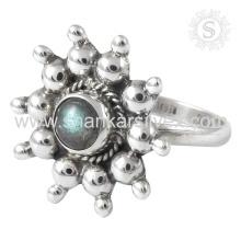 Scenic Labradorite Gemstone Silver Ring atacado 925 Sterling Silver Jewelry Indian Handmade Jóias De Prata