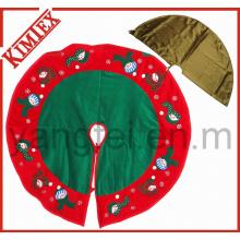 Venta al por mayor de bordado de promoción de árboles de Navidad falda