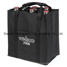 Custom Imprinted Eco-Friendly Reusable Non-Woven Cloth Wine Bottle Bag