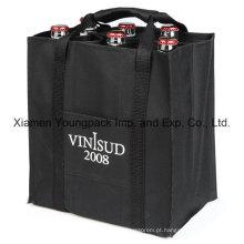 Custom Imprinted Eco-Friendly reutilizáveis não-tecidos saco de garrafa de vinho pano