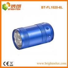 Fabrik nach Maß Metall 6 führte preiswerte kleine Taschenlampen-Fackel mit Keychain oder Handgelenkbügel