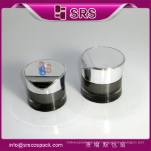 Round waist shape acrylic cosmetic container packaging and plastic jar cosmetic skin whitening face cream packaging