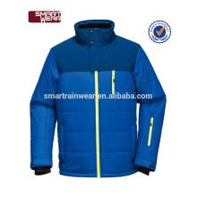 Abrigo de invierno 100% poliéster acolchado chaqueta ligera para inviernos hombres
