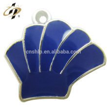 Wholesale die struck metal silver enamel charm pendants