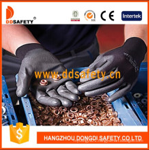 Ddsafety Hot Sale Nylon Polyester Liner Coated Crinkle Latex Work Glove Dnl119