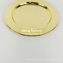 Hochzeitsdekoration 13-Zoll-Ladegeräte Glänzende Gold-Ladegerätplatte