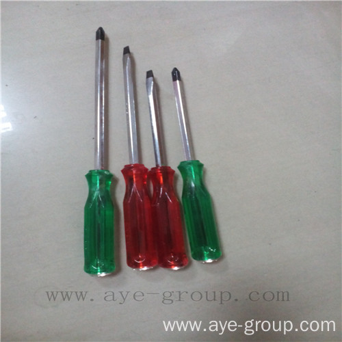 Plastic Handle Nie Chrome Screw Driver Set