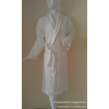 unisex cotton/polyester waffle bathrobe for hotel