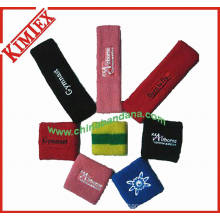 Unisex Spandex Cotton Terry Sports Embroidery Sweatband