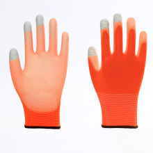 Polyester Touch Screen PU Labor Protective Gloves