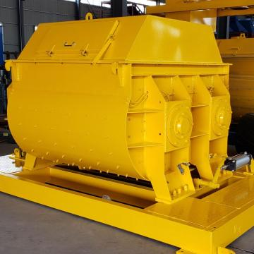 Small scale JS concrete mixer with electric motor