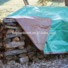 cubiertas de lona de la pila de madera, borde cosido impermeable del abrigo de la madera de coser