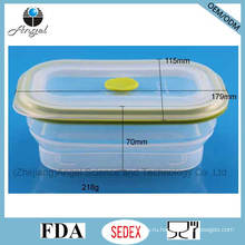 600 мл складной силиконовый контейнер для еды Tiffin Lunch Box Sfb05