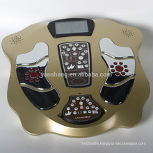 Electronic acupuncture LCD display infrared magnetic wave foot massager