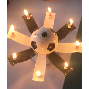 Fußball Musik Flower Candle White & Black