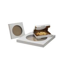 Descartável remova as caixas de embalagem feitas sob encomenda de papel da pizza