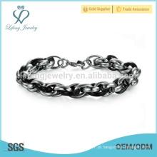 Pulseira de moda, pulseira de pele de cobra, bracelete de bug bracelete magnético de titânio