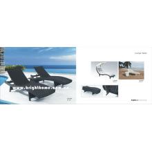 Venta caliente de mimbre de ratán muebles al aire libre Sun Lounge