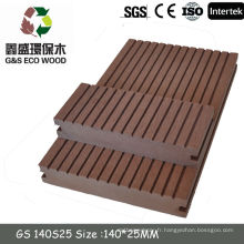WPC Extérieur Bois en bois Composite / Eco-friendly Décorer Decking / Diy Wpc Flooring / Decking / Tiles