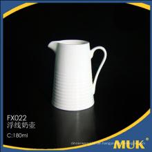 Neue Ankünfte linearer Entwurf preiswerter keramischer Milchtopf