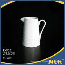 Novo arrivals design linear barata pote de leite de cerâmica