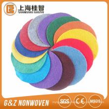 tela perforada con aguja de poliéster colorida para trabajos manuales
