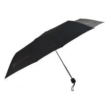Hot sale aluminum shaft windproof structure 3folding travel umbrella with logo