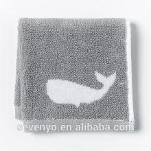 commune jacquard poisson gris visage serviette chiffon doux FT -034