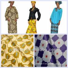 Pas cher Prix Afrique Textiles Guinée Brocade Nigeria Tissu Bazin riche Mode Damas En Gros Et Au Détail Promotion