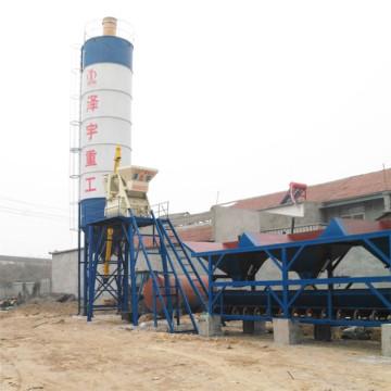 HZS50 concrete batching plant layout