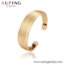 52136 Xuping China wholesale unique design gold plated luxury fashion bangle for women