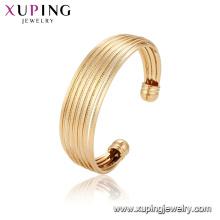 52136 Xuping China atacado design exclusivo banhado a ouro pulseira de moda de luxo para as mulheres