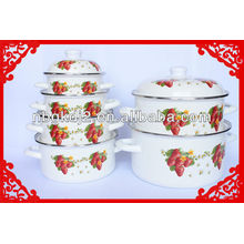 Russia Enamel Cookware Pot with high quality