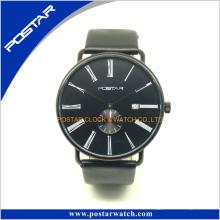 Swatchful Top vendre usine vendre directe populaire montre à quartz avec bracelet en cuir véritable
